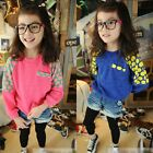 New Fashion Girls Toddler Bat Sleeves Cute Dots Kintted Sweater Warm S035