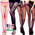 Plus Size New Lace Nylon Hold Up Socks Tights Sheer Pantyhose Women Stockings