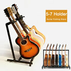 New 5-7 Way Multi Folding Guitar Rack Stand by Chord For Electric Bass Acoustic