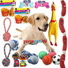 10 x Assorted Pet Dog Toys Squeaky Chew Rope Ball Rubber Novelty Toys Bulk Deal