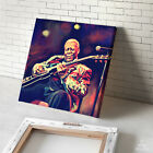 BB KING Blues guitar poster painting CANVAS GICLEE PRINT (MOUNTED)