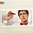 SCARFACE MONTANA with cigar painting CANVAS ART PRINT (Rolled)