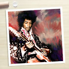 JIMI HENDRIX concert guitar cd painting CANVAS ART PRINT (Rolled)