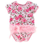 Newborn Lace Dress Romper Baby Girls Jumpsuit One Piece Outfit Clothes 0-12M New