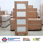 4B TRANSLUCENT SAFETY Glass French Solid Timber Doors Sliding Bifold Doors