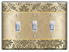 Floral Vintage Brown LIGHT SWITCH PLATE Cover Wall Decor