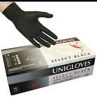 New Box of UNIGLOVES 4 BLACK Latex / Nitrile Powder Free TATTOO Tattooist Gloves