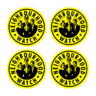 4x NEIGHBOURHOOD WATCH STICKERS Printed Window Sign Security Vinyl FREE POST