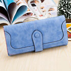 New Women Fashion Frosted Wallet Button Clutch Purse Lady Long Handbag Bag