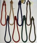 """Curtain & Chair Tie Back -24""""spread Rope - ~3/8"""" Wide -17 Colors To Choose From!"""