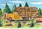 Logging Art Print Forestry Arborist Lumber Timber Wood Ax Ford Truck Outhouse V8