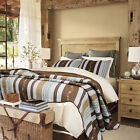 BEAUTIFUL COZY COTTAGE BROWN BLUE PINK GREEN VINE TAUPE M...