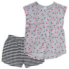 BNWT ~ GIRLS FLORAL ROSE PRINT 2PC PYJAMAS CHOOSE SIZE 2 3 4 5 NEW