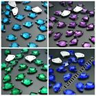 7*12mm 100ps Axe Rhinestones Sew On Flatback Crystal Glass Strass Chatons