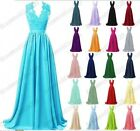 Long Chiffon Evening Formal Party Ball Gown Prom Bridesmaid Dress Size 6-22