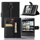 Litchi Leather Flip Card Stand Cover Case For BlackBerry Passport Silver Edition