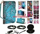 ASUS ZENFONE Phone Flip Card PU Leather Wallet Case Hybrid Pouch Cover + BUNDLE
