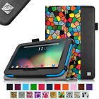 Folio Leather Case Stand Cover for RCA 7 Voyager & RCA Voyager II 7 inch Tablet