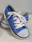 New in Box Boys Light Blue Low Top Canvas Sneakers  Youth Size 2