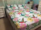 Hummingbird Bird Floral Lightweight Fleece Coverlet Bed Cover Blanket & Sham Set image