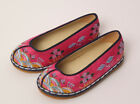 Korea hanbok shoes girls babies traditional  pink embroidery First Birthday