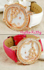 MONTRE ANALOGIQUE HELLO KITTY TETE INCRUSTEE POUR ADO & FEMME HELLO KITTY WATCH