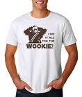 I Did It All For The Wookie T-Shirt, STAR WARS Chewbacca Han Solo Funny Tee $12.95 USD