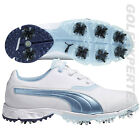 PUMA GOLF GOLFSCHUHE DAMEN BiOPRO WMNS 8 SPIKES WATERPROOF WHITE-OMPHALODES-BLUE