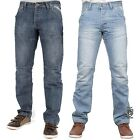 MENS BRAND NEW STRAIGHT LEG JEANS ENZO IN STONE WASH & BLEACH WASH COLOURS