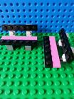 LEGO Minifig BENCHES x 2 Pink Black Flowers Seats Accessories Friends Creator