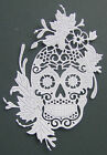 4 Tattered Lace 'Floral Skull' die-cuts in a choice of plain or glitter card