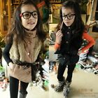 New Fashion Kids Toddlers Faux Fur Jacket Coat Lined Vest Outerwear 3-8 Y S107