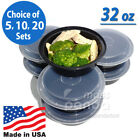 "Внешний вид - 32oz Meal Prep 7"" Round Food Containers with Lids, Microwavable Plastic BPA free"