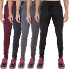 Mens Super Skinny Stretch Sweatpants Joggers loungewear Cuffed bottom by AD