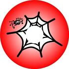 Wheelchair Spoke Guard stickers RED SPIDER