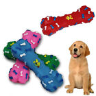 DOG PLAY TOY BONES PLASTIC SQUEAKY SQUEEKY PUPPY PET CHEW TRAINING DOGGY TREATS