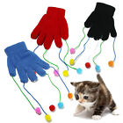 CAT KITTEN PLAY PET GLOVE TEASER TRICK PLAYING FUN TOY CHASER DANGLER POM POM