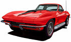 1967 Chevrolet Corvette coupe canvas art print by Richard Browne  *