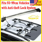 New 93-99cm Top Luggage Cargo Cross Bar Roof Rack Carrier + Lock Kit Anti-theft