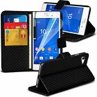Leather Book Wallet Phone Case Cover+Film for Sony