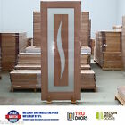 Floating Glass Panel French Solid Timber Doors Entrance Luxury Modern Hardwood