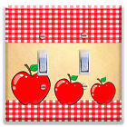 light switch plate cover red apples kitchen