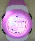1 Boy Girl Kids Lady Digital LED Sports Lighting stopwatch Wrist Watches Alarm
