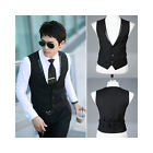 New Men's COOL slim fit skinny S-breasted wedding Dress Suit Black 3sizes #001