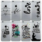 2016 Popular English Font Florid Pattern PC Case for iPhone 6 6s / 6 6s Plus 5s