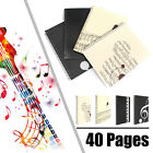 40 Pages Musical Sheet Manuscript Paper Stave Notation Notebook Spiral Bound