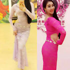 new arrival 2016 Sexy Lace Women Belly Dance Costume Long Slim Dancing Dress