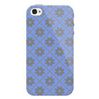 Flower Grid Pattern Protective Snap on iPhone 4 Case / Cover