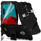 Shock Proof Dual Layer Heavy Duty Case Cover+Stereo Headphones for Vodafone