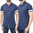 Mens Bewley & Ritch Shirt Designer Branded Short Sleeve Roll Up Polkadot Top